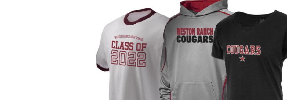 Weston ranch high school cougars apparel store prep for Shirt printing stockton ca