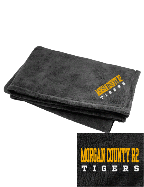 Morgan County R2 High School Tigers Embroidered Augusta Sportswear Fleece Blanket Prep Sportswear
