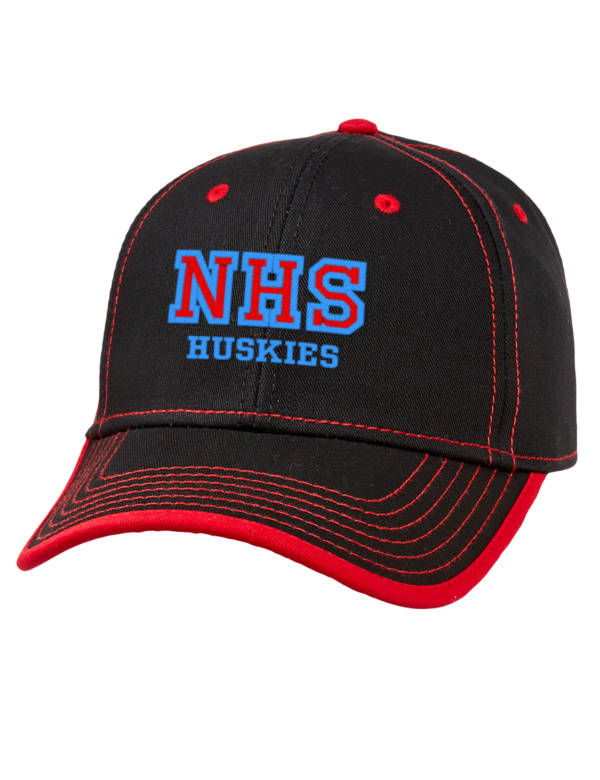 Golf bags for high school teams - North High School Huskies Embroidered Cotton Twill Contrast Stitch Low