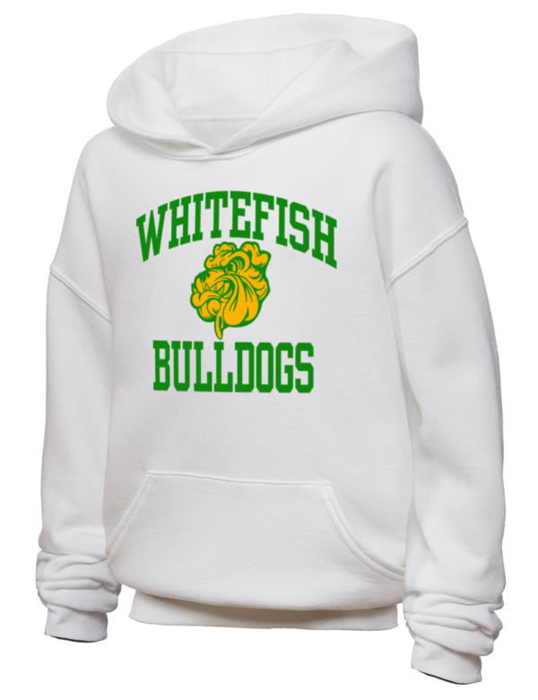 bulldog whitefish whitefish high school bulldogs jerzees youth hooded 4563