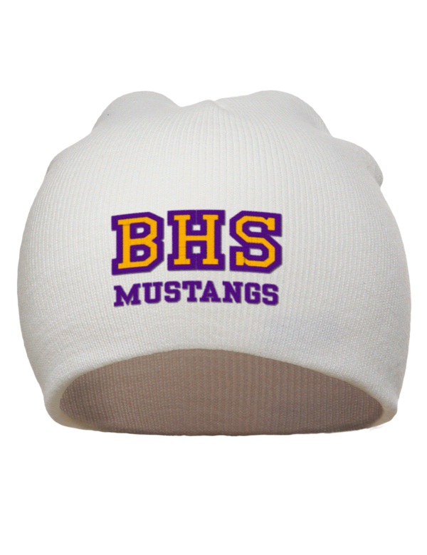 Burges High School Mustangs Embroidered Acrylic Beanie