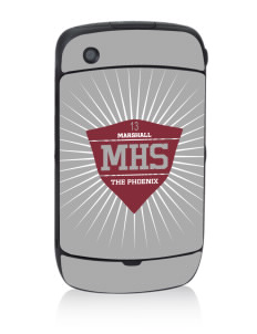 Marshall High School The Phoenix Black Berry 8530 Curve Skin