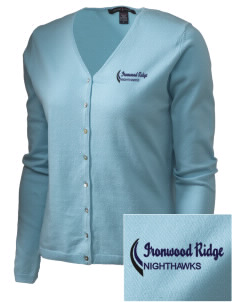 Ironwood Ridge High School Nighthawks Embroidered Women's Stretch Cardigan Sweater