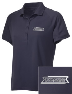 Ironwood Ridge High School Nighthawks Embroidered Women's Polytech Mesh Insert Polo