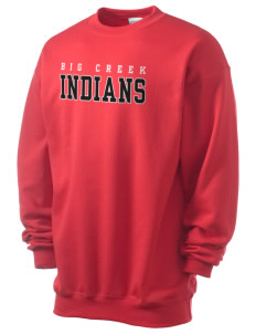 Big Creek Indians Men's 7.8 oz Lightweight Crewneck Sweatshirt