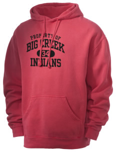 Big Creek Indians Men's 80/20 Pigment Dyed Hooded Sweatshirt