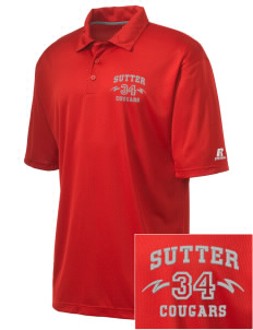 Sutter Middle School Cougars Embroidered Russell Coaches Core Polo Shirt