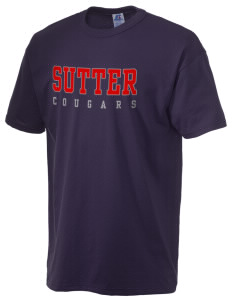 Sutter Middle School Cougars  Russell Men's NuBlend T-Shirt