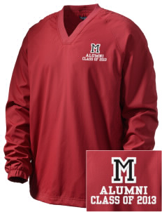 McEwen Middle School Warriors Embroidered Men's V-Neck Raglan Wind Shirt