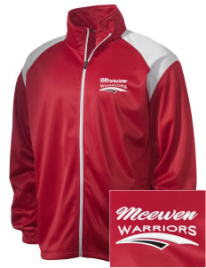 McEwen Middle School Warriors Embroidered Men's Tricot Track Jacket