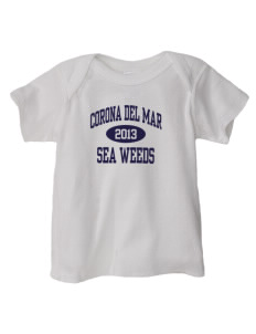 Corona Del Mar Junior High School Sea Weeds  Baby Lap Shoulder T-Shirt