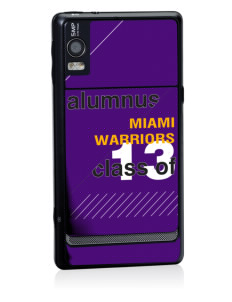 Miami High school Warriors Motorola Droid 2 Skin