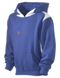 Prep Sportswear Kid's Pullover Hooded Sweatshirt with Contrast Color