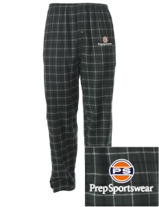 Prep Sportswear Embroidered Men's Button-Fly Collegiate Flannel Pant