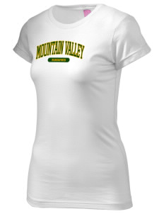 Mountain Valley Academy Hawks  Juniors' Fine Jersey Longer Length T-Shirt