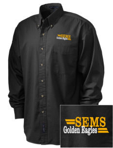 San Elijo Middle School Golden Eagles Embroidered Tall Men's Twill Shirt