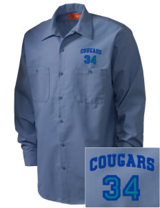 Cascade Christian School Cougars Embroidered Men's Industrial Work Shirt - Regular