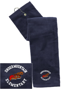 Undermountain Elementary Embroidered Hand Towel with Grommet