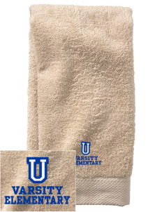Undermountain Elementary  Embroidered Zero Twist Resort Hand Towel