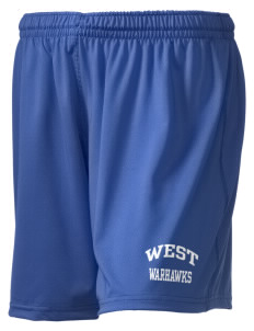 "West Junior High School Warhawks Holloway Women's Performance Shorts, 5"" Inseam"