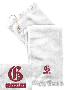 Queen Anne High School Grizzlies  Embroidered Grommeted Finger Tip Towel
