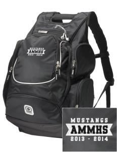 Asa Mercer Middle High Mustangs  Embroidered OGIO Bounty Hunter Backpack