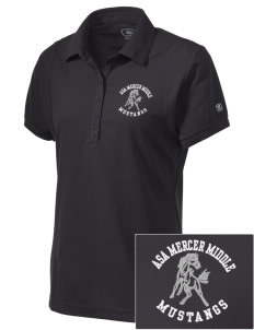 Asa Mercer Middle High Mustangs Embroidered OGIO Women's Jewel Polo