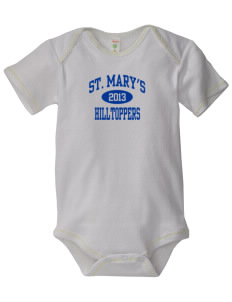 Saint Mary's High School Hilltoppers Baby Zig-Zag Creeper