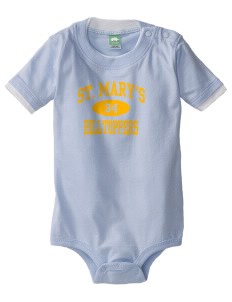 Saint Mary's High School Hilltoppers Baby One-Piece with Shoulder Snaps
