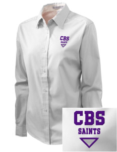 Charles B Sinclair Middle School Saints Embroidered Women's Easy-Care Shirt