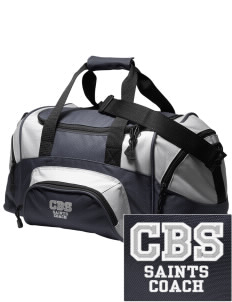 Charles B Sinclair Middle School Saints Embroidered Small Colorblock Duffel