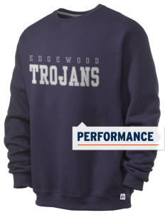 Edgewood Elementary School Trojans  Russell Men's Dri-Power Crewneck Sweatshirt