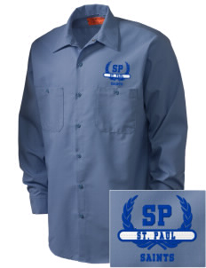 Saint Paul School Saints Embroidered Men's Industrial Work Shirt - Regular