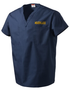 Clay Central School Meadowlarks V-Neck Scrub Top