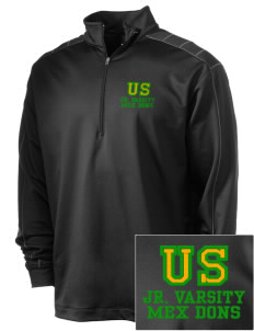Union Street Elementary School Mex Dons Embroidered Nike Men's Golf Dri-Fit 1/2 Zip