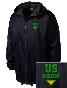 Union Street Elementary School Mex Dons Embroidered Dickies Men's Fleece-Lined Hooded Jacket