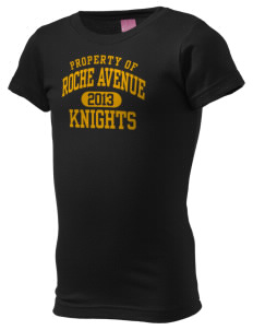 Roche Avenue School Knights  Girl's Fine Jersey Longer Length T-Shirt