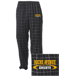 Roche Avenue School Knights Embroidered Men's Button-Fly Collegiate Flannel Pant