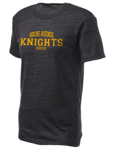 Roche Avenue School Knights Embroidered Alternative Unisex Eco Heather T-Shirt