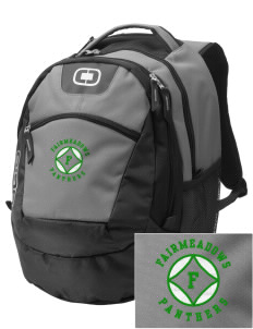 Fairmeadows Elementary School Panthers Embroidered OGIO Rogue Backpack