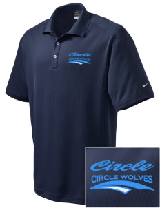 Circle School Circle Wolves Embroidered Nike Men's Dri-Fit Classic Polo