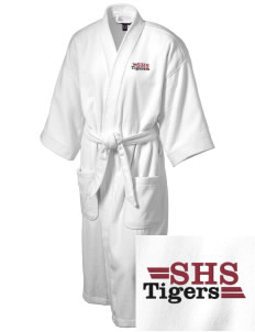 Silsbee High School Tigers Embroidered Terry Velour Robe