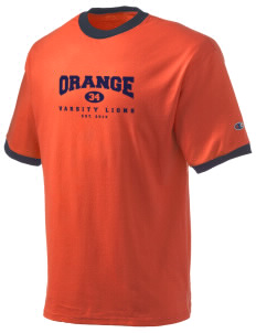 Orange High School Lions Champion Men's Ringer T-Shirt