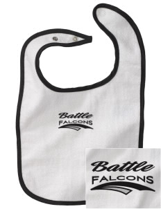 Battle Elementary School Falcons Embroidered Baby Snap Terry Bib