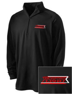 Munford High School Lions Embroidered Men's Stretched Half Zip Pullover