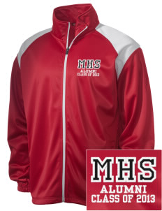 Munford High School Lions Embroidered Men's Tricot Track Jacket