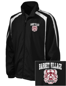 Barnet Village School Bulldogs Embroidered Men's Colorblock Raglan Jacket