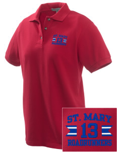 Saint Mary School Roadrunners Embroidered Women's Pique Polo
