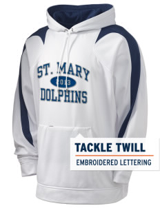 Saint Mary Elementary School Dolphins Holloway Men's Sports Fleece Hooded Sweatshirt with Tackle Twill