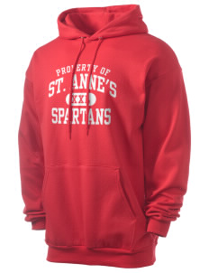 Saint Anne's School Spartans Men's 7.8 oz Lightweight Hooded Sweatshirt